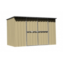 EasyShed Skillion Roof  3.0  x 1.9 x 1.98 Zinc
